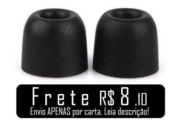 Earbuds De Espuma P/ Fone - Memory Foam Borrachinha Silicone