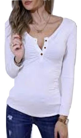 Blusa Escote Boton / Señorita Joven Sexy. Talla 16 Mx $290a