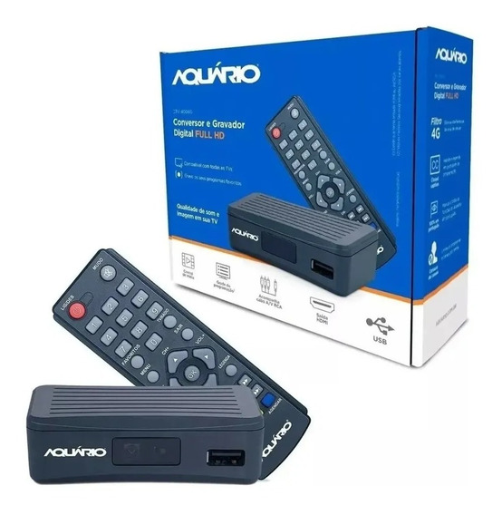Conversor Digital Aquario De Tv Full Hd Dtv-4000