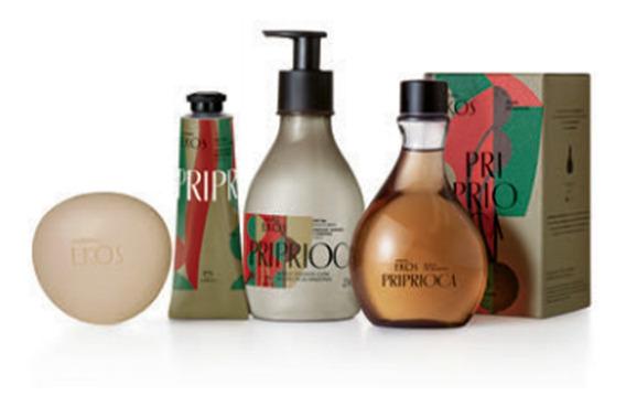 Kit Ekos Priprioca: Perfume +hidratante + Sabonete + Creme M