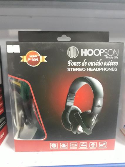 Fone De Ouvido Estério Headphones F-036