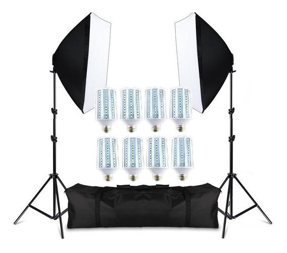 Kit De Iluminação Estúdio Pk-sb01 Lampada Led 400w Bivolt