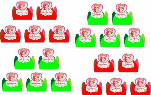 Imagem 1 de 1 de 50 Forminhas 4 Pétalas P/ Doces Moranguinho