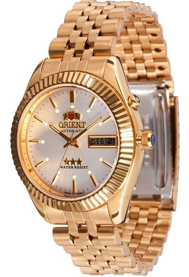 Relógio Orient Masculino Automático Dourado 469ec7 B1kx