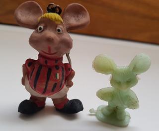 Figura Miniatura Lote Topo Gigio Milan Chaveiro