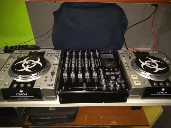 Cdj Denon/mixer Numark Fx 5000