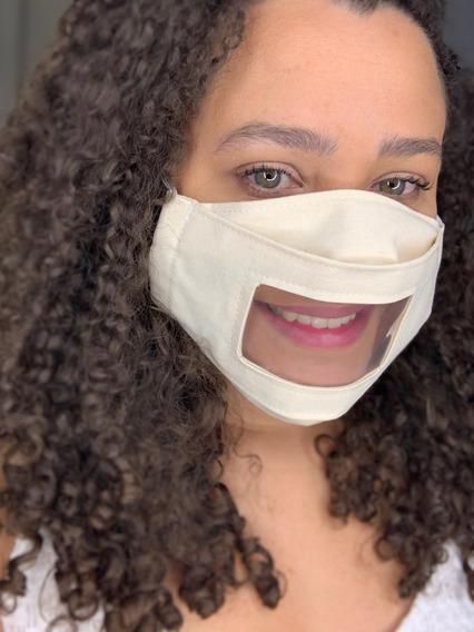 Kit Com 5 Máscaras Acessíveis Com Visor De Plástico