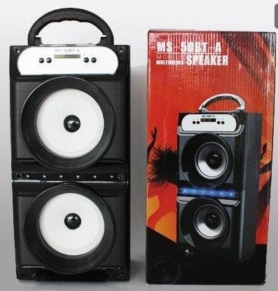 Caixa De Som Amplificada Bluetooth Ms-50bt 20w Fm Pc Usb Mp3