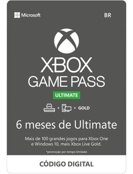 Game Pass Ultimate 6 Meses Xbox One Código 25 Dígitos
