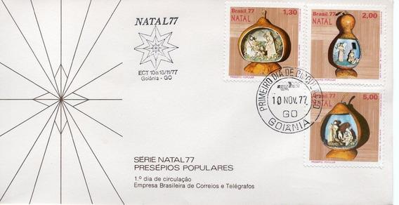 Fdc 1977 - Natal 77 - Presépios Populares Cbc - Selos #136