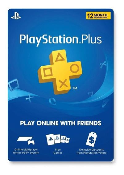 Ps Plus 12 Meses Ps4 Digital Usa | Gamer24hs