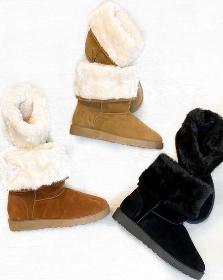 Bota De Inverno Tipo Ugg Feminina Ideal P/ Frio Toda Forrada