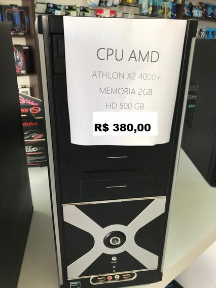 Cpu Athlon X2 4000+ 2gb Memória Hd 500gb