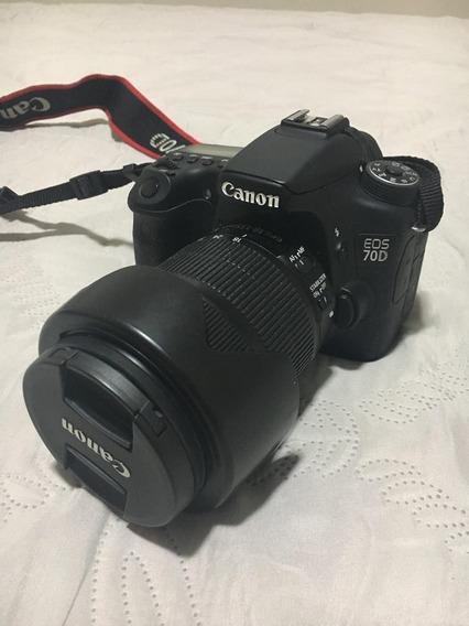 Canon 70d + 18-135mm 2 Baterias