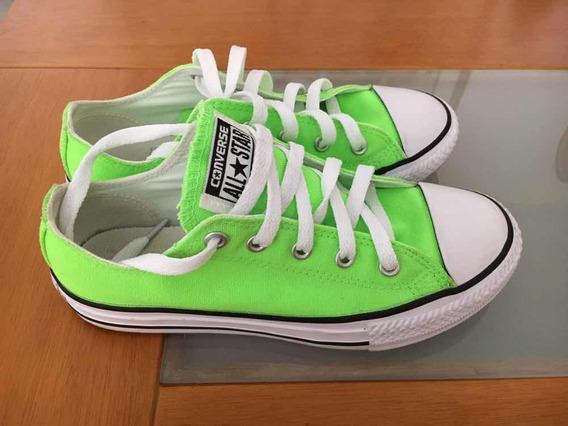 Zapatos Originales Converse Verdes Talla 33