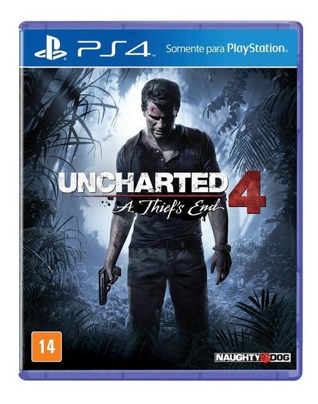 Uncharted 4 Ps4 - Mídia Física Lacrada E 100% Em Português