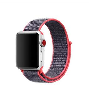 Pulseira Nylon Loop Sport Apple Watch 1 2 3 E 4 42mm Pink