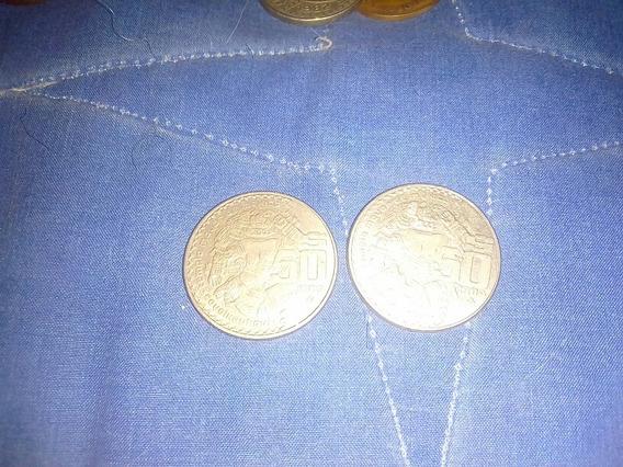 2 Monedas De 50 Pesos