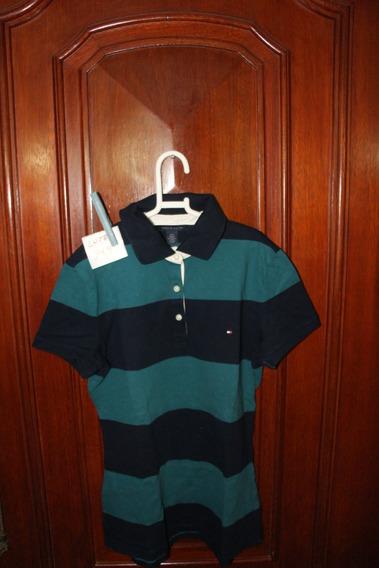 Roupa Lote 769 Menina Camisa Polo Tommy Hilfiger Lg Verde A