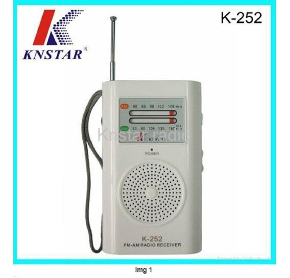 Rádio Bolso Portátil Am/fm Knstar K252 Preço Atacado Revenda