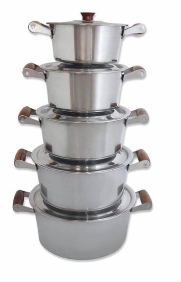 Conjunto 5 Panelas De Alumínio Batido Link No Mercado