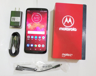 Moto Z3 Play, Xt1929-6, 4gb+64gb, Azul, Impecable, En Caja