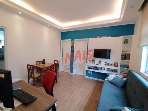 Imagem 1 de 12 de Apartamento Com 2 Dormitórios Amplos - Embaré - Santos/sp - Ap5982