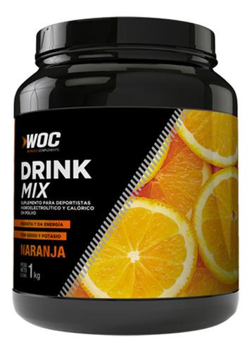 Drink Mix Woc Con Maltodextrina Sabor Naranja 1kg