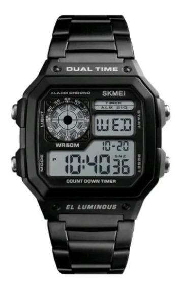 Relógio Importad Skmei Digital Retro Pulseira Aço Inoxidável