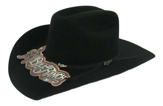 Sombrero Texana Bull Ranch Maverick Niño Negra 100% Lana.
