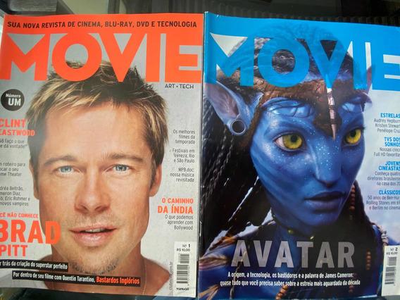 Revista Movie Número 01 E 02. Duas Edições. 2009