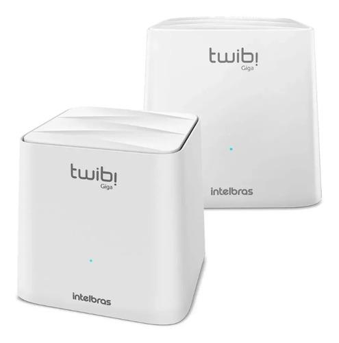 Imagem 1 de 3 de  Roteador Wi-fi Intelbras Ac 1200 Mesh Twibi Giga 2 Unidades
