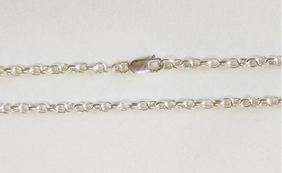 Cadena De 46cm Rolo Oval 4mm En Plata Sólida .925 Unisex