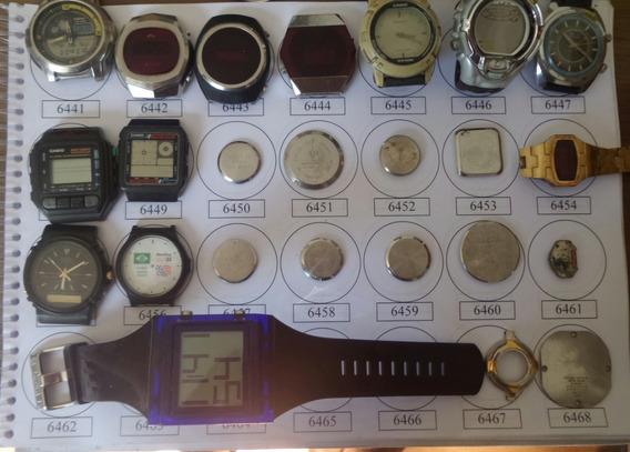 Lote 24 Sucatas Casio E Outros- Máquina Do Tempo