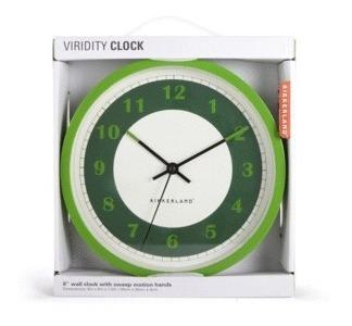 Viridity Clock: Reloj De Pared (cl63)