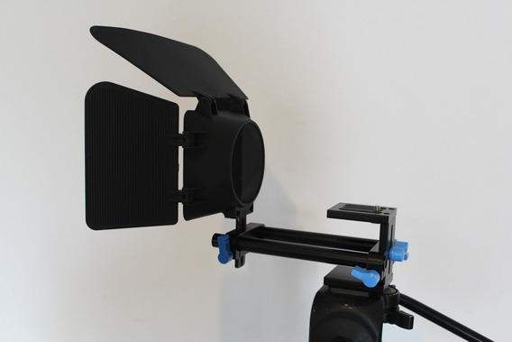 Matte Box Parassol + Base/trilho 15mm P Câmeras Dslr