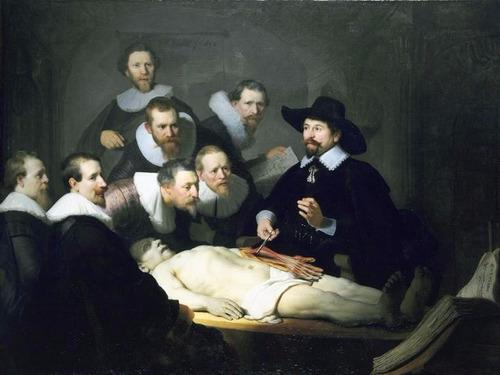 Poster Rembrandt 60x77cm Lição De Anatomia Para Decorar Sala