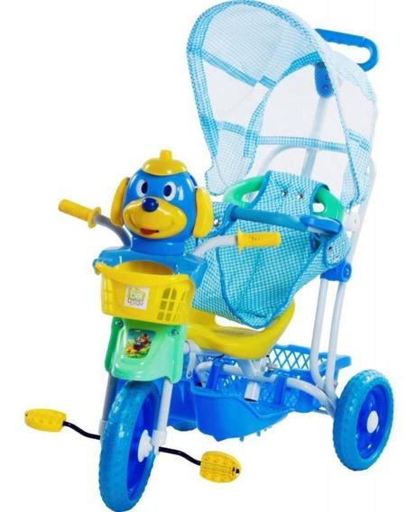Triciclo Gangorra Com Capota - Azul 910600 - Belfix