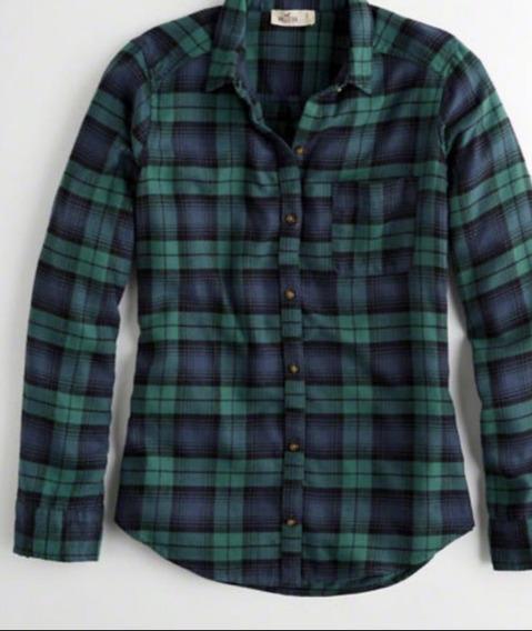 Camisa Hollister Escocesa Verde
