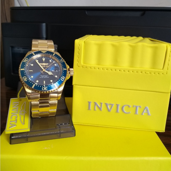 Relógio Invicta Pro Diver Banhado Ouro 18k + Corrente Ping