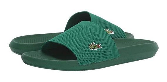 Ojotas Lacoste Croco Slide 219 2 Us Verde Gg2