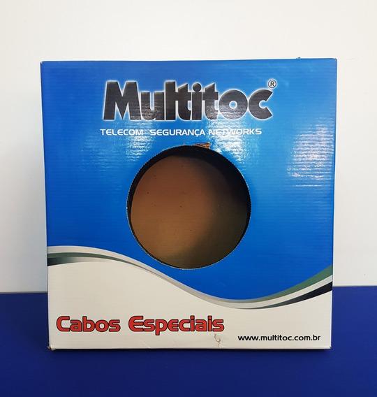 Cabo De Rede Cftv Multitoc 4 Pares (8 Vias) 300 Metros