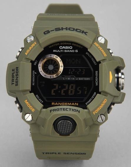 Relógio Casio Gshock Rangeman Gw9400 3dr Verde Novo Original