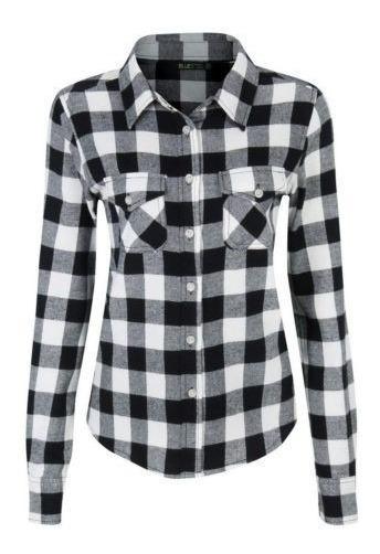 Blusa Camisa Xadrez Feminina Flanelada