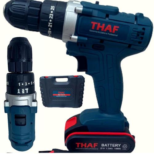 Parafusadeira Com Impacto Com Duas Bateria 21v Thaf Profiss
