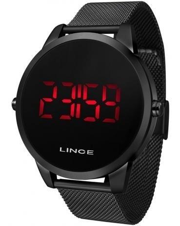 Relógio Lince Digital Led Preto Redondo Mdn4586l Pxpx