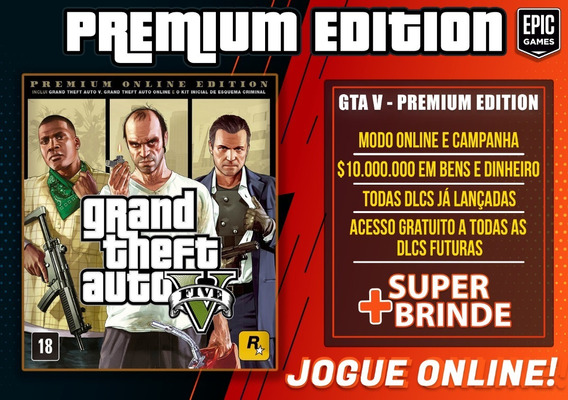 Gta 5 Premium Online - Pc - Epic Games - Grand Theft Auto V