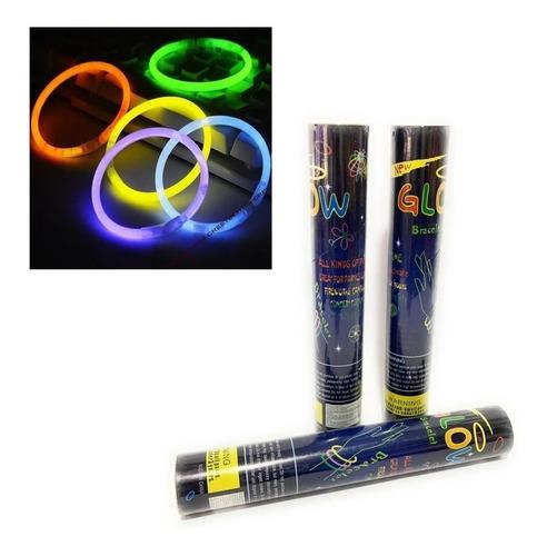 Imagen 1 de 1 de Luz Glow Barra Fluoresente Pulseras 100 Piezas