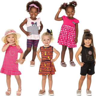Roupa Bebê Infantil Menina Kit 5 Roupinhas De Verão Isensee
