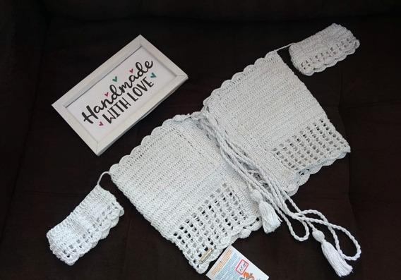 Cropped Ciganinha Em Crochê; Peça De Artesanato
